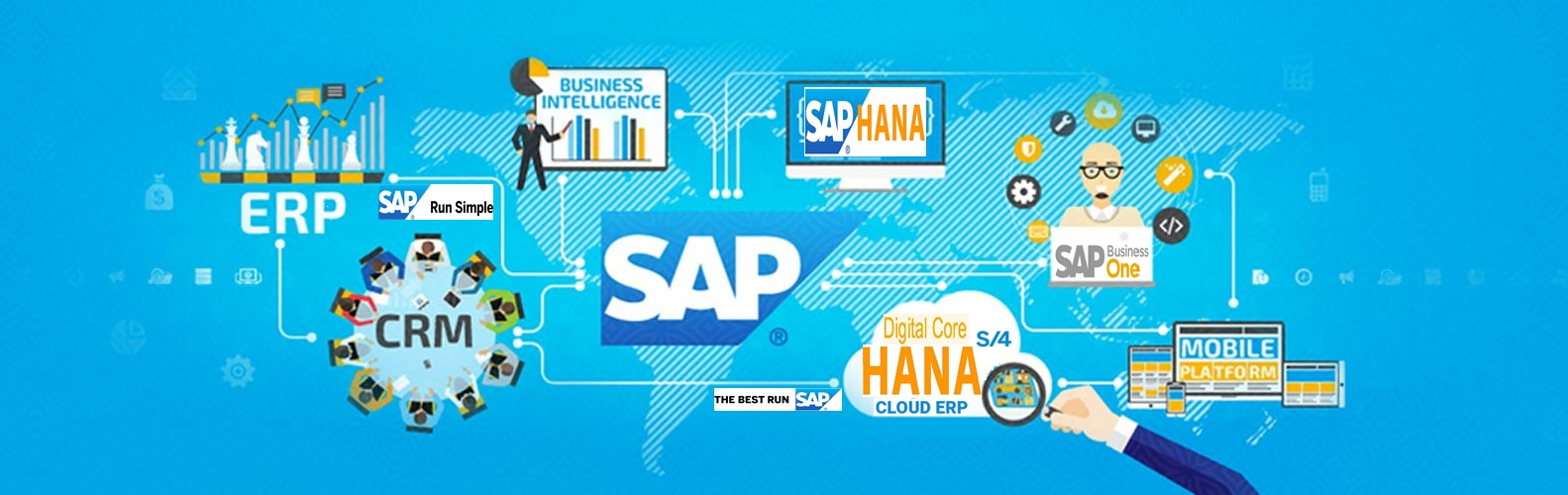 Indo Asia Global Technologies ERP Solutions offer SAP HANA, SAP S/4 HANA, SAP Business One